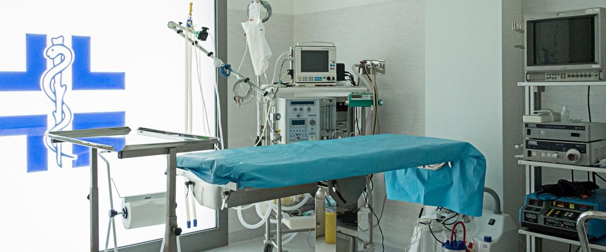 Sala operatoria Clinica La Fenice di Mestre